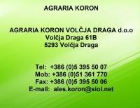 Agraria Koron, Kmetijski in gradbeni material, Volčja Draga, Nova Gorica