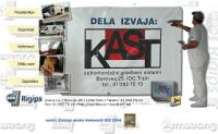 Mavčno-kartonski sistemi Kast d.o.o., suhomontažna gradnja, predelne stene, stropi,  mansarde, podstreha, toplotna izolacija, Ljubljana