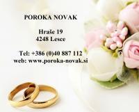 Poroka Novak, Lesce