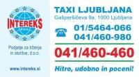 Taxi Intereks, Ljubljana