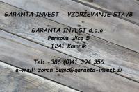Garanta Invest, vzdrževanje stavb, Kamnik