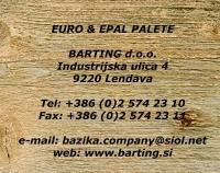 Barting, euro palete, Lendava