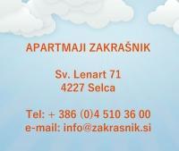 Apartments, Rooms, Zakrašnik, Škofja Loka, Gorenjska