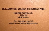 Čevljarstvo in usnjena galenterija PAFIK, proizvodnja obutve, Šenčur