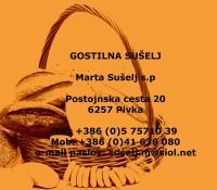 Gostilna Sušelj, Domače jedi, Pivka logo image