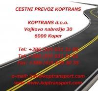 Cestni prevoz Koptrans, Koper