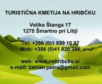 Turistična kmetija Na hribčku, Šmartno pri Litiji