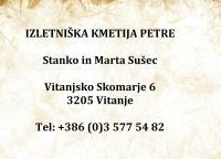 Izletniška kmetija Petre, Vitanje, Celje logo image