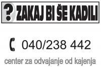 Odvajanje od cigaret, kako prenehati kaditi, Center za odvajanje od kajenja, Ljubljana, Maribor