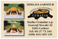 Lesene vrtne garniture po meri - Lesena galanterija Čemažar