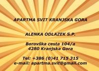 Apartma Svit, Prenočišče, Kranjska Gora