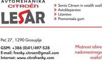 Citroen servis, Prodaja rabljenih vozil Citroen, Peugeot, Lesar, Grosuplje