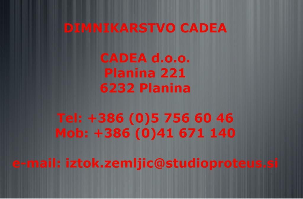 Dimnikarstvo CADEA, dimnikarske storitve, Postojna gallery photo no.0