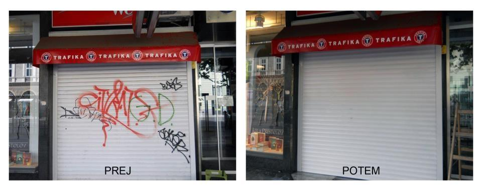 Odstranjevanje grafitov SISAPI, čiščenje fasad, Ljubljana gallery photo no.6