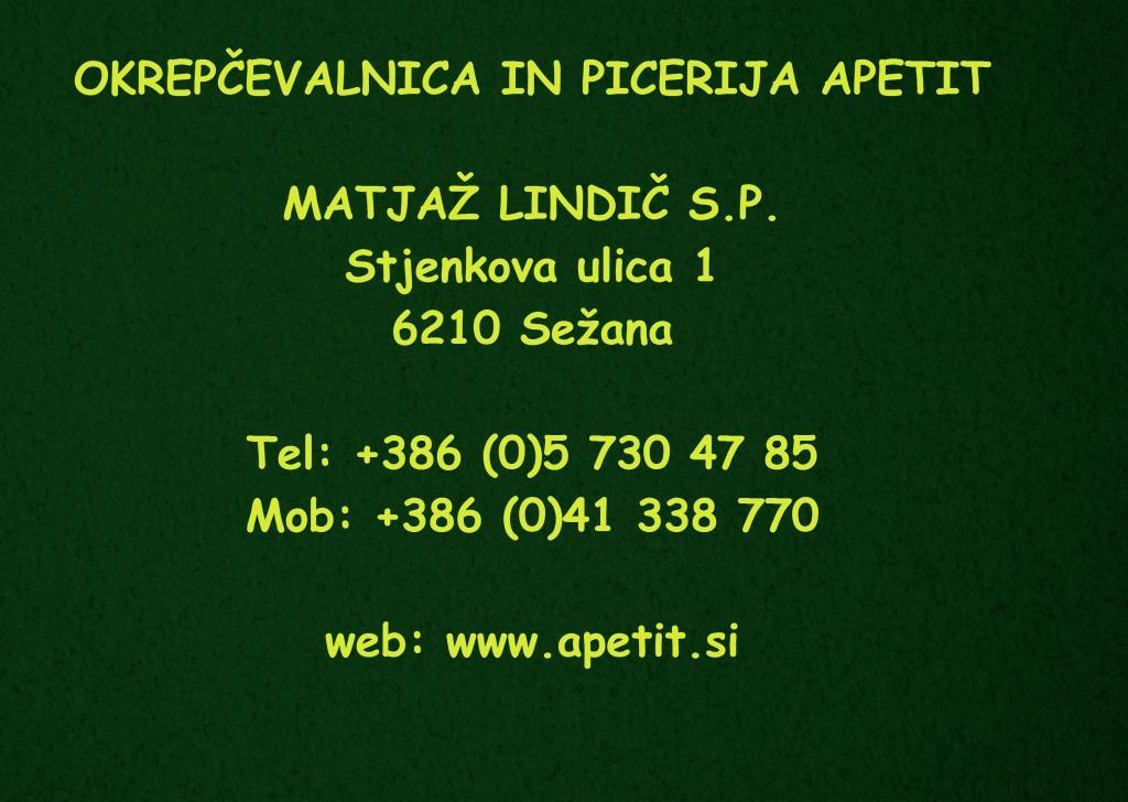 Okrepčevalnica in picerija Apetit, Sežana gallery photo no.0