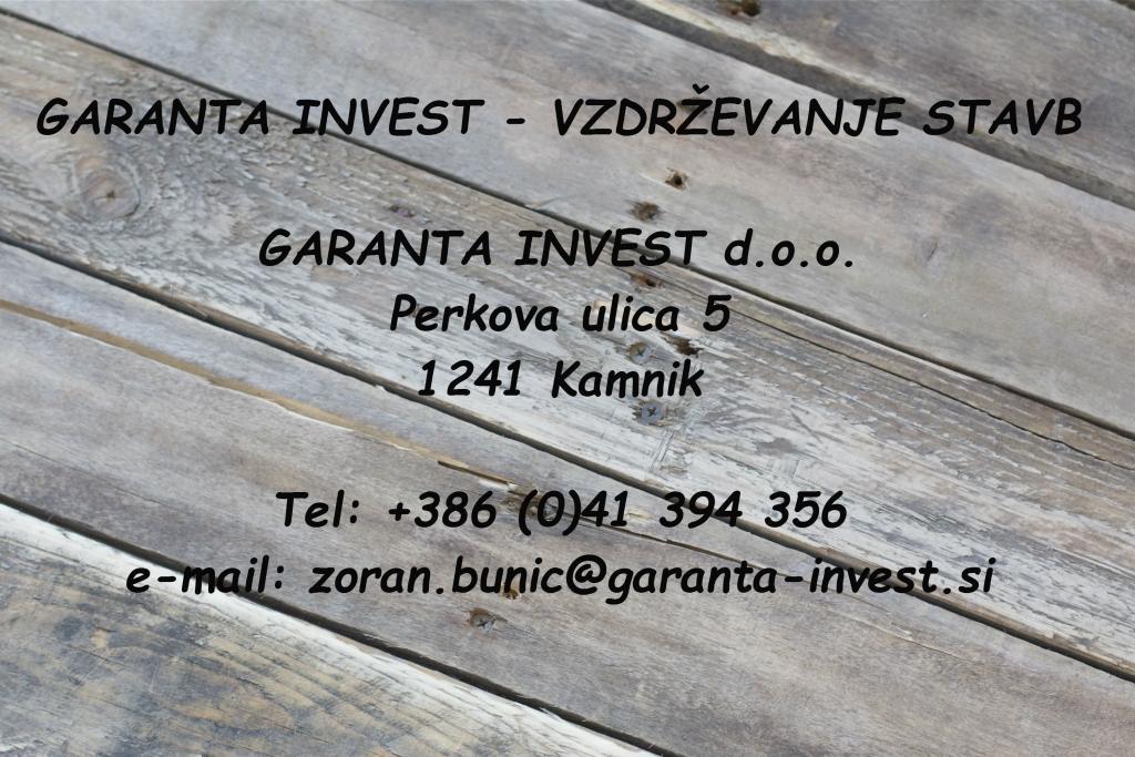 Garanta Invest, vzdrževanje stavb, Kamnik gallery photo no.0