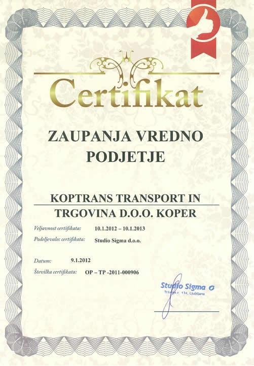 Cestni prevoz Koptrans, Koper gallery photo no.2
