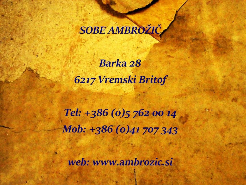 Sobe Ambrožič, turistična kmetija, gostilna, rooms, Škocjanske jame gallery photo no.0