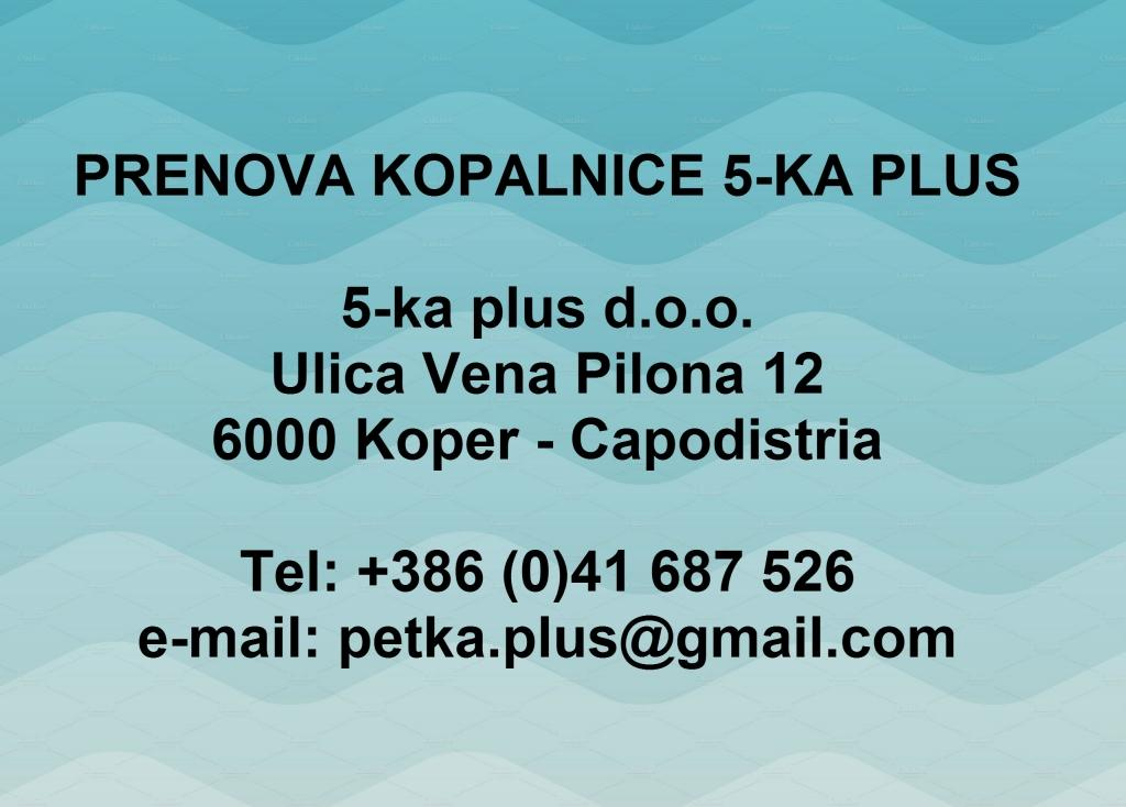Prenova kopalnice 5-ka plus, Obala gallery photo no.0