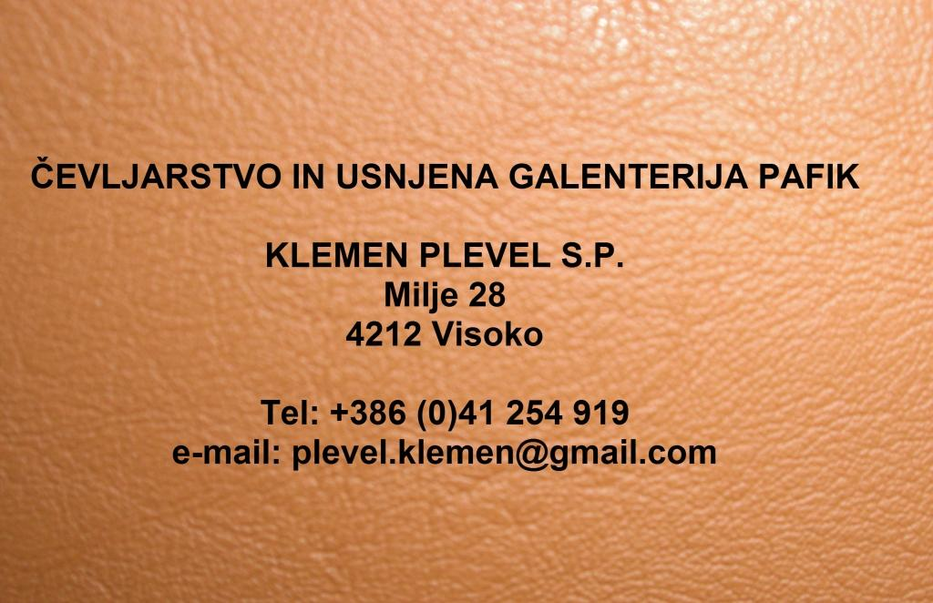 Čevljarstvo in usnjena galenterija PAFIK, proizvodnja obutve, Šenčur gallery photo no.0