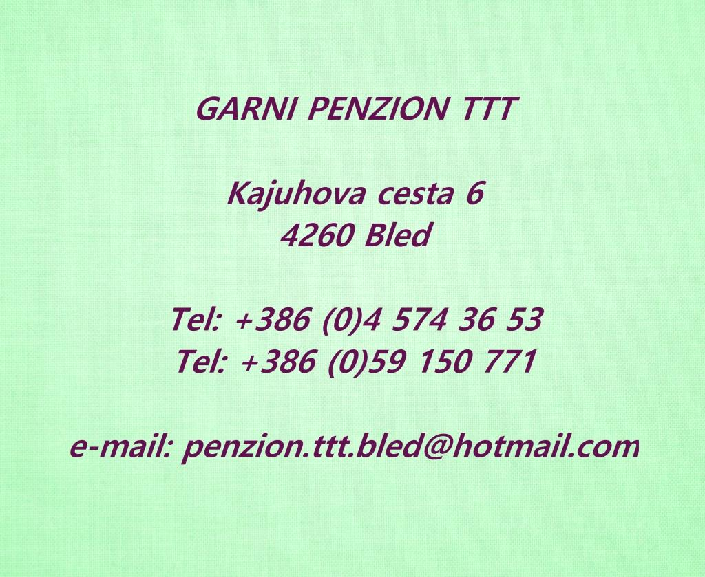 Garni Penzion TTT, Bled gallery photo no.0