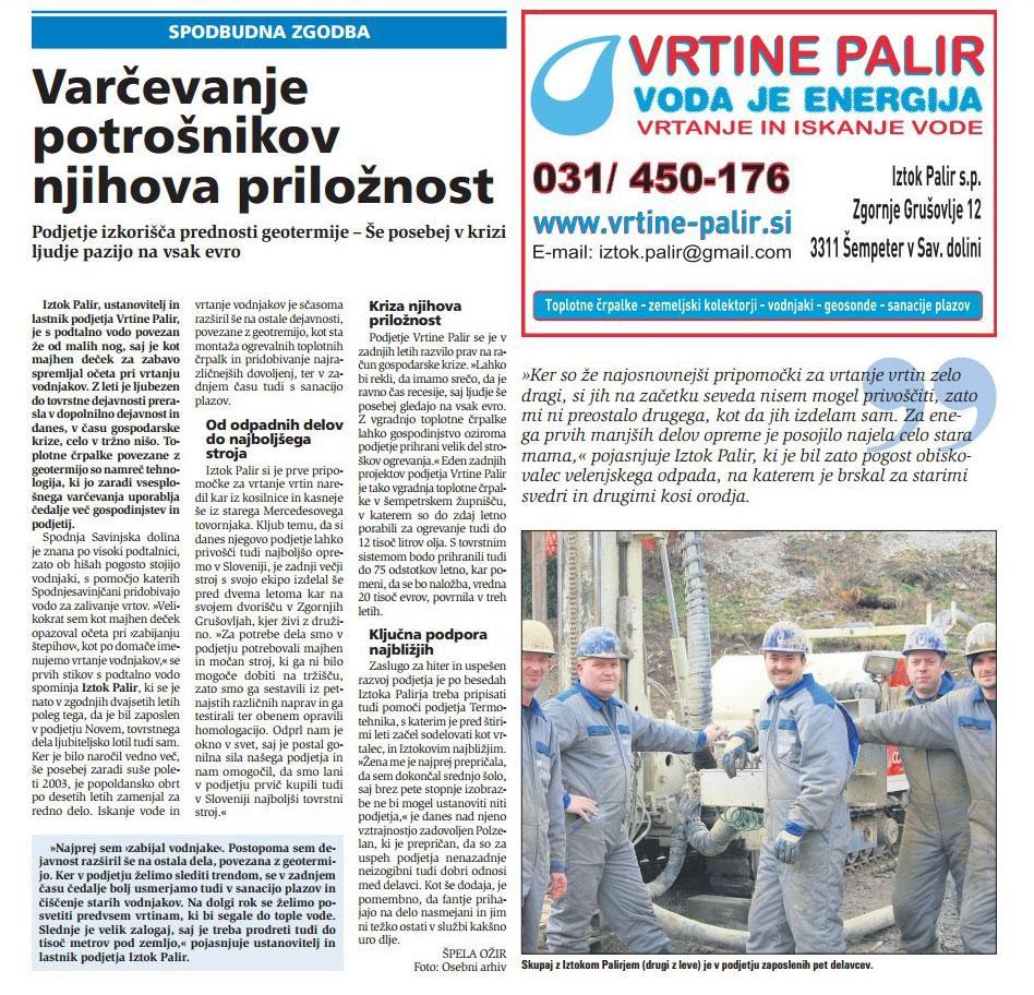 Vrtanje in iskanje vode - Vrtine Palir Iztok s.p. gallery photo no.32