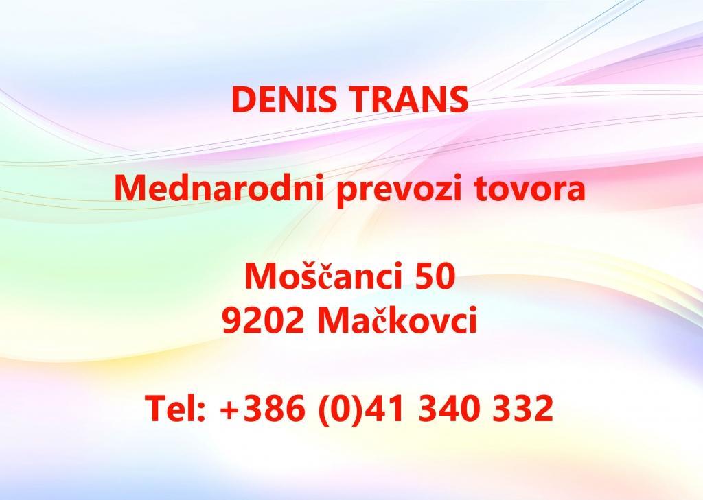 Mednarodni prevozi tovora DENIS TRANS, Prekmurje gallery photo no.0