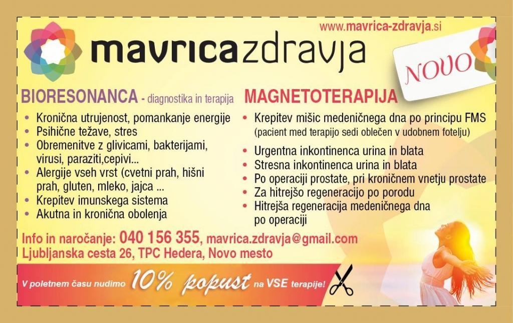 Bioresonanca, zdravljenje inkontinence, Novo Mesto - Mavrica zdravja gallery photo no.2
