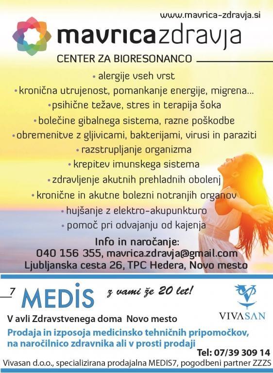 Bioresonanca, zdravljenje inkontinence, Novo Mesto - Mavrica zdravja gallery photo no.15