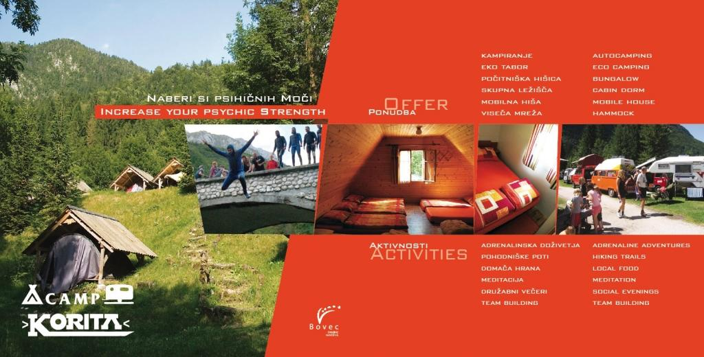 Camp Korita Soča Slovenia - glamping Soča, glamping Bovec, glamping Slovenija, camping Bovec gallery photo no.1