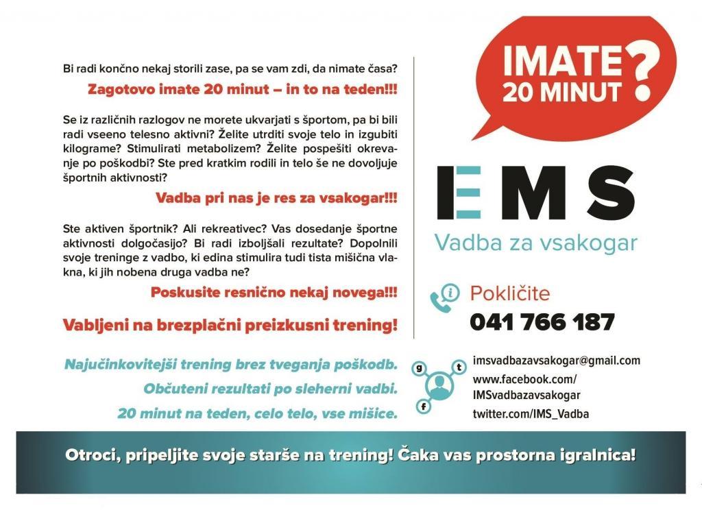 EMS trening Ljubljana, EMS vadba Ljubljana gallery photo no.0
