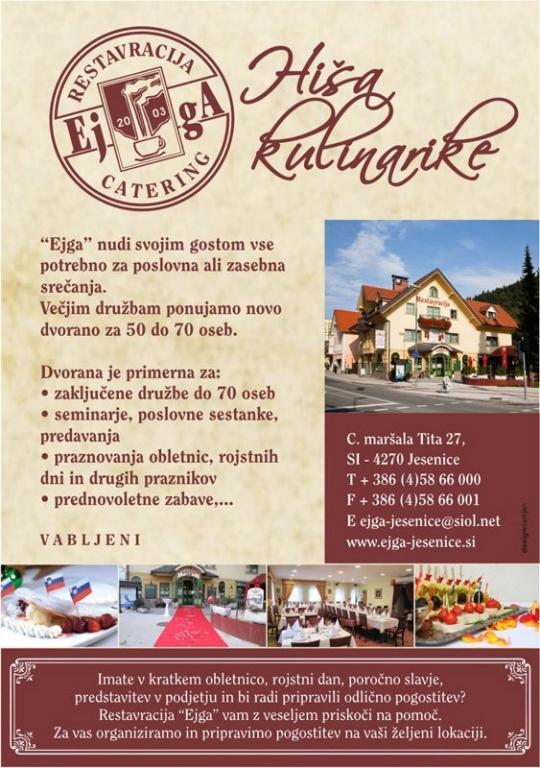 Gostilna, restavracija, catering EJGA, rooms Jesenice gallery photo no.1