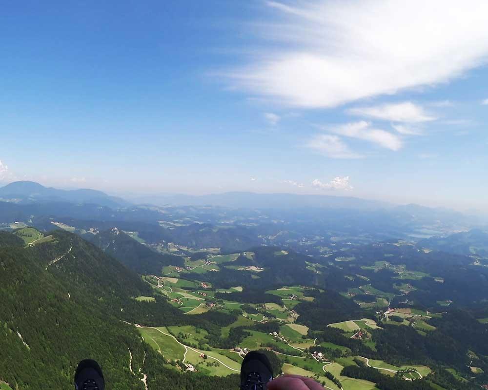 Jadralno padalstvo Logarska dolina, Golte, polet v tandemu z jadralnim padalom, paraglidin tandem IMPULSE gallery photo no.10
