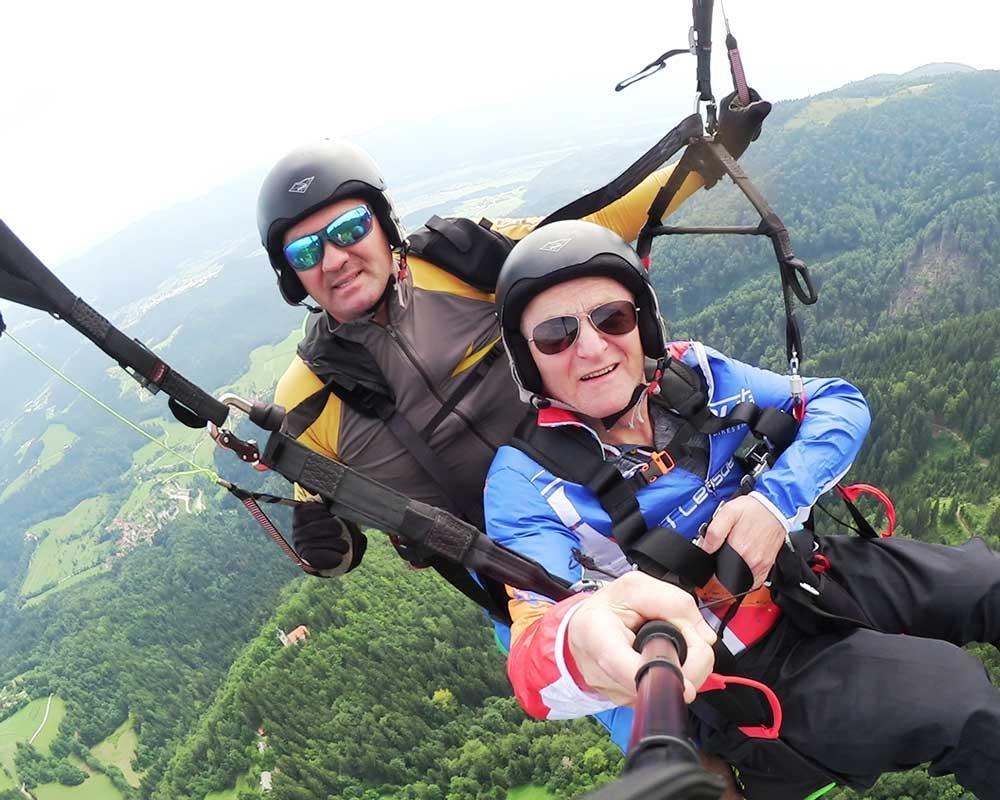 Jadralno padalstvo Logarska dolina, Golte, polet v tandemu z jadralnim padalom, paraglidin tandem IMPULSE gallery photo no.11