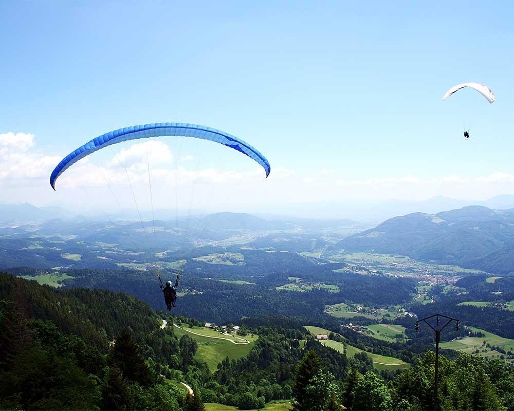 Jadralno padalstvo Logarska dolina, Golte, polet v tandemu z jadralnim padalom, paraglidin tandem IMPULSE gallery photo no.3