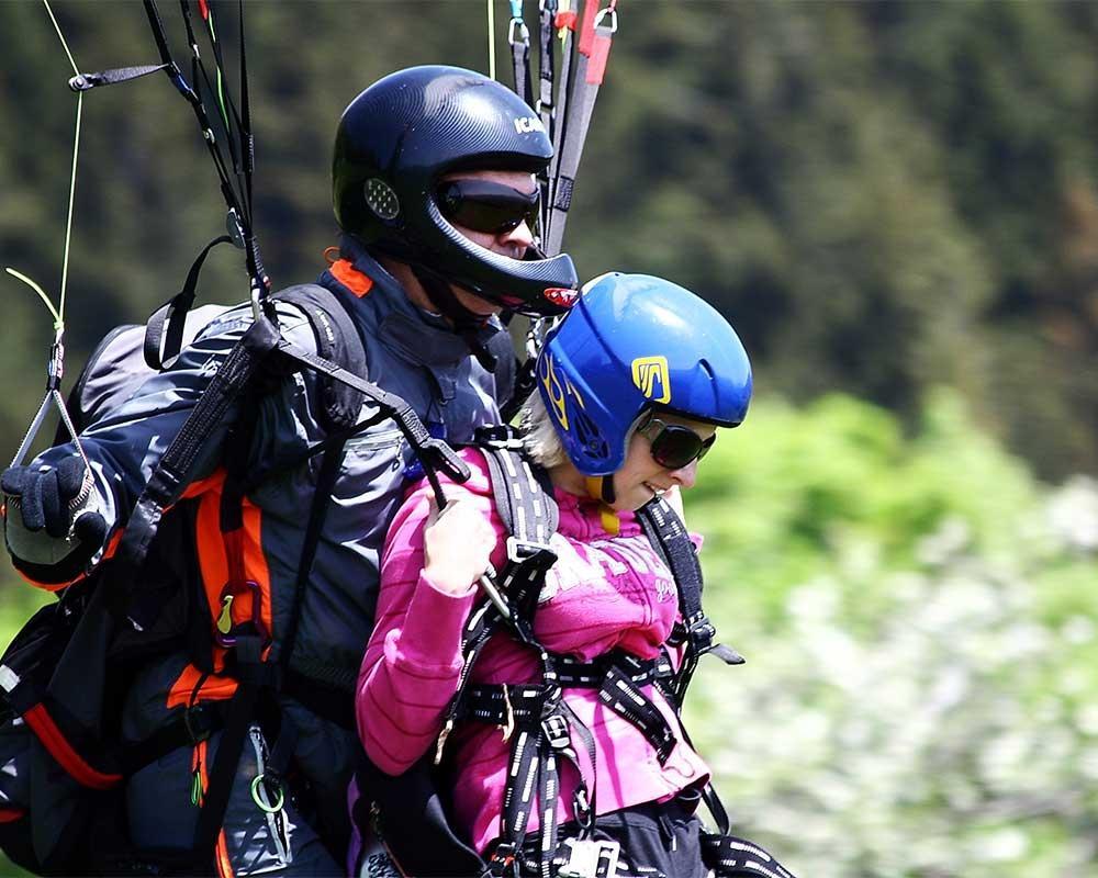Jadralno padalstvo Logarska dolina, Golte, polet v tandemu z jadralnim padalom, paraglidin tandem IMPULSE gallery photo no.4