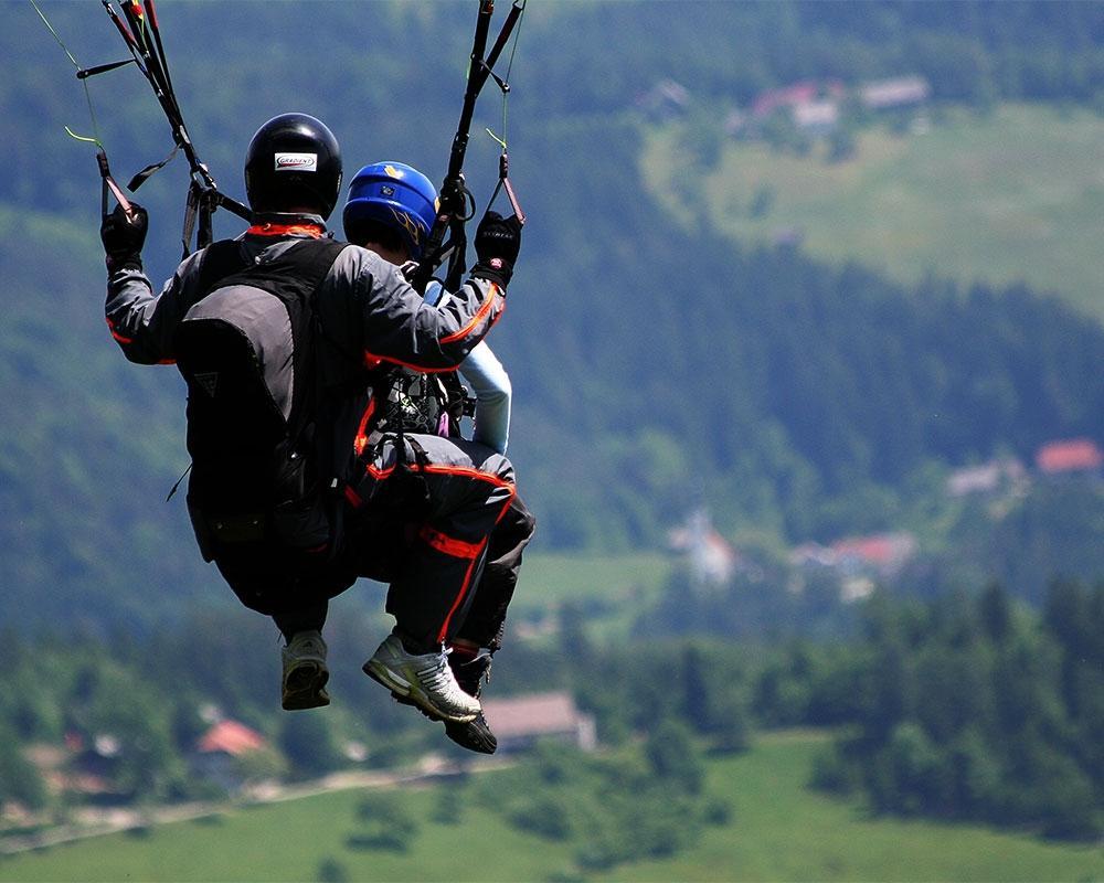 Jadralno padalstvo Logarska dolina, Golte, polet v tandemu z jadralnim padalom, paraglidin tandem IMPULSE gallery photo no.5