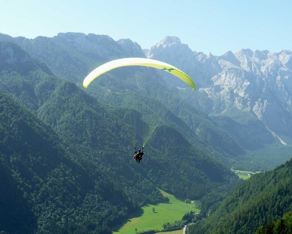 Jadralno padalstvo Logarska dolina, Golte, polet v tandemu z jadralnim padalom, paraglidin tandem IMPULSE gallery photo no.8