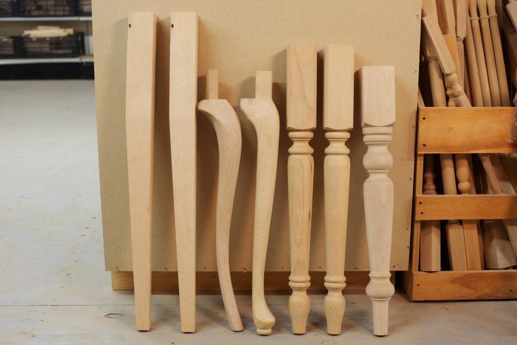 Lesene noge za pohištvo, lesna galanterija gallery photo no.1