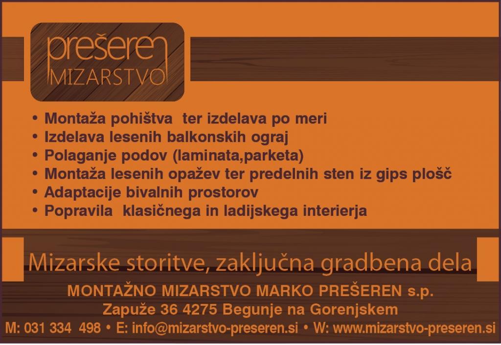Pohištvo po meri - Mizarstvo Prešeren, Gorenjska gallery photo no.1