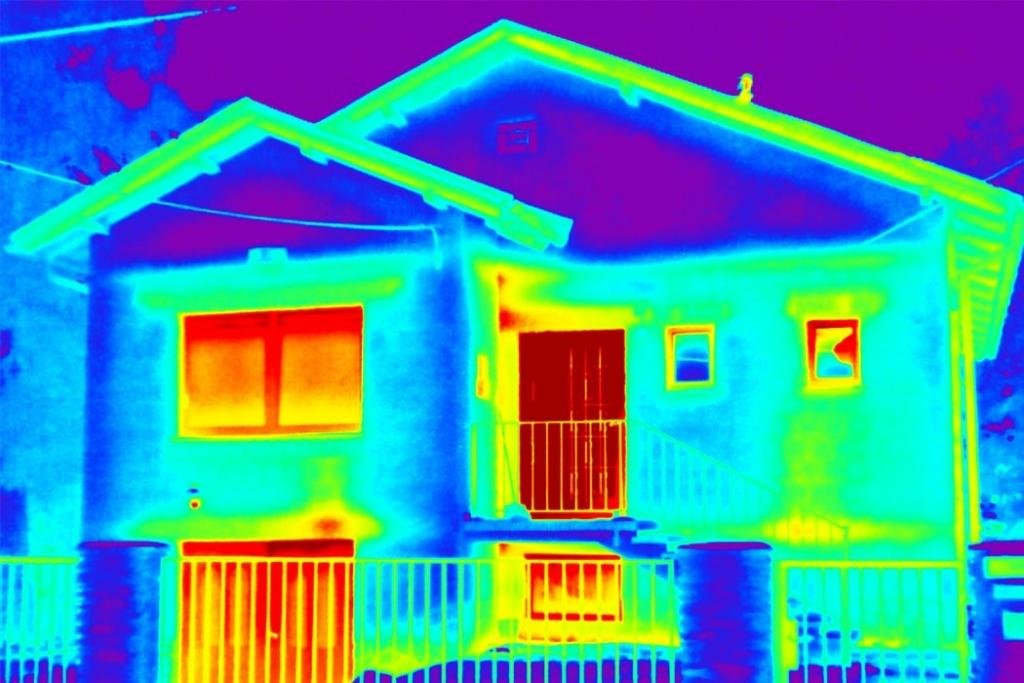 Pregled stavb s termo kamero, termografija stavb gallery photo no.6