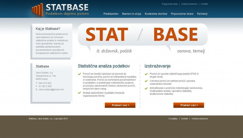 Statistična analiza podatkov STATBASE gallery photo no.1