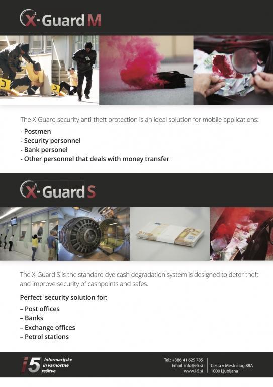Varnostni sistemi za obarvanje in varovanje denarja, elektrohemijska zaštita novca, staining cash system, XGUARD, dimni bankovec gallery photo no.10