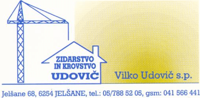 Zidarstvo in krovstvo Udovič, Ilirska Bistrica gallery photo no.0