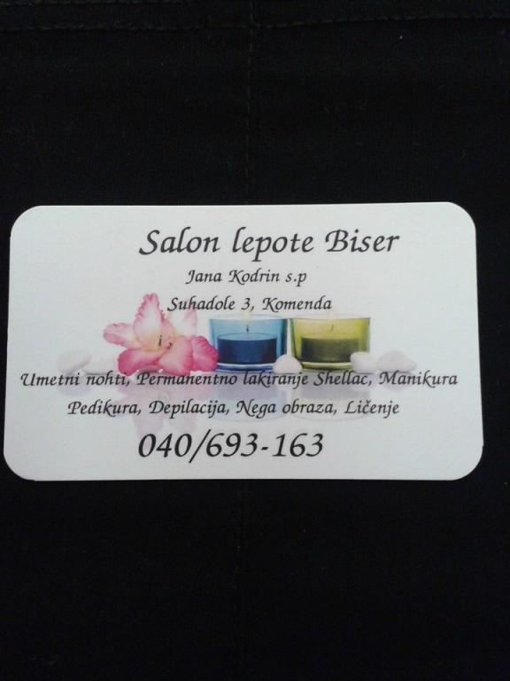 Salon lepote Biser, Komenda gallery photo no.3