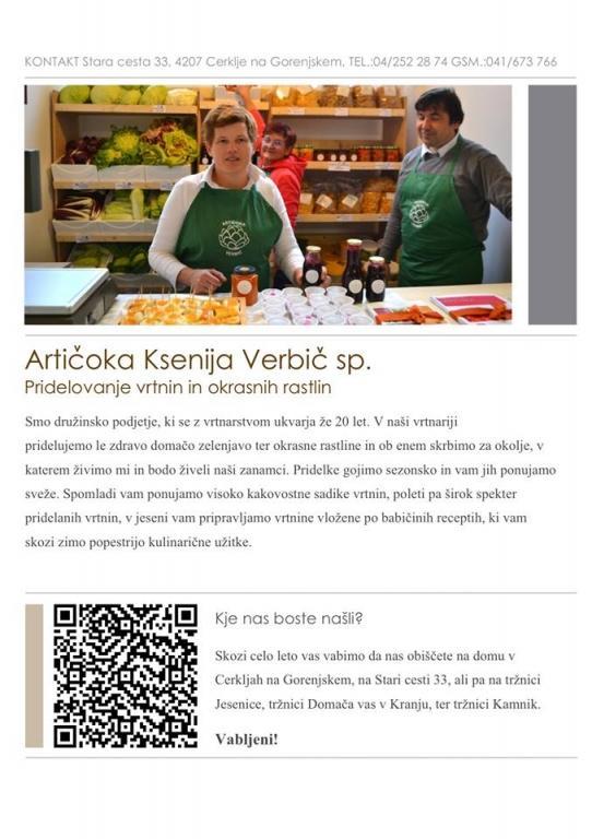 Vzgoja in pridelovanje sadik in vrtnin - Vrtnarija Artičoka, Cerklje na Gorenjskem gallery photo no.5