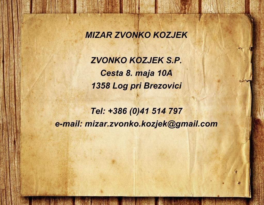 Mizar Zvonko Kozjek, Popravilo pohištva, Brezovica gallery photo no.8