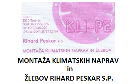 KLI-PE, Rihard Peskar s.p., Trebnje gallery photo no.0