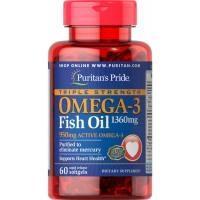 OMEGA 3 1360 mg trojna moč, 60 mehkih kapsul - product image
