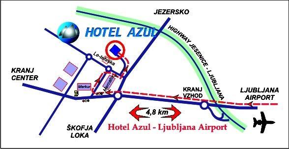 Lokacija hotela Azul Kranj - product image